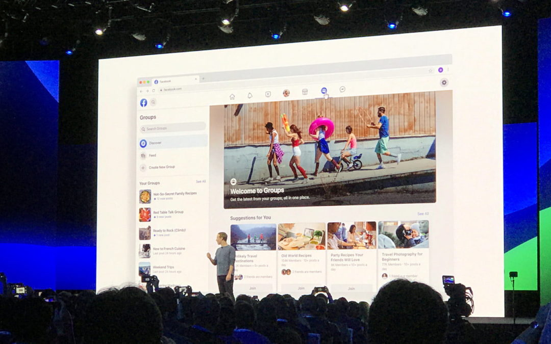 Facebook New Design at F8 Conference